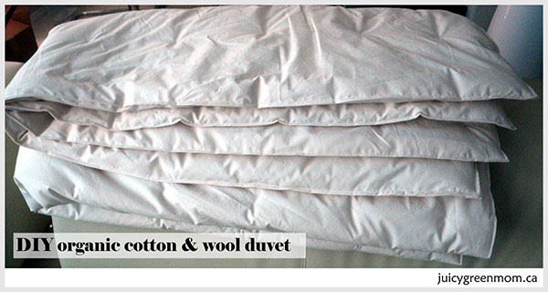 DIY Wool Duvet with Organic Wool & Organic Cotton