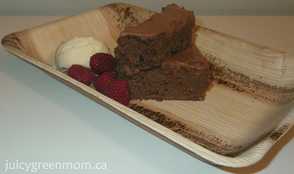 sustainable eco friendly disposable plate with cake Greenmunch review