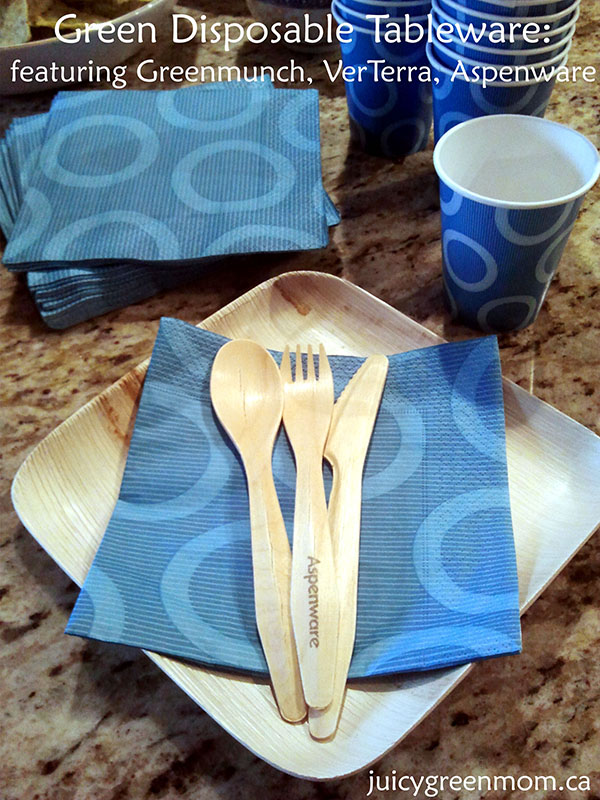 green eco friendly disposable tableware VerTerra Aspenware Greenmunch review