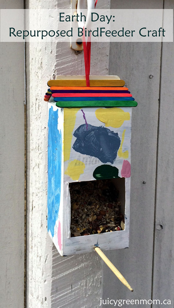 Earth Day: Repurposed Bird Feeder Craft