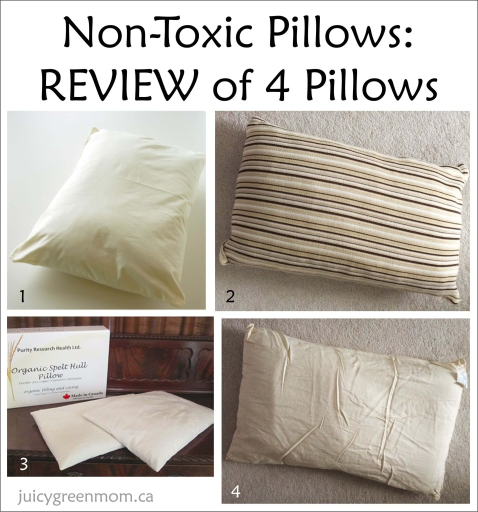 Non Toxic Pillows: REVIEW of 4 pillows