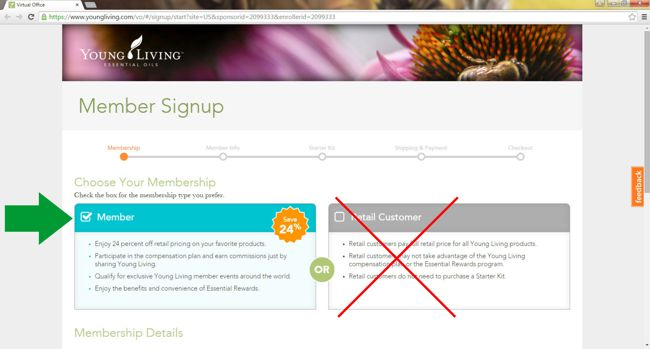 young living member sign up