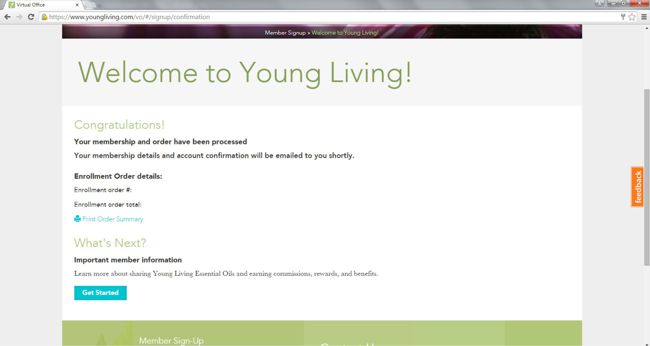 young living order complete
