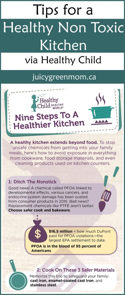 Tips for a Healthy Non Toxic Kitchen via Healthy Child