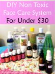 DIY Non Toxic Face Care System for Under $30