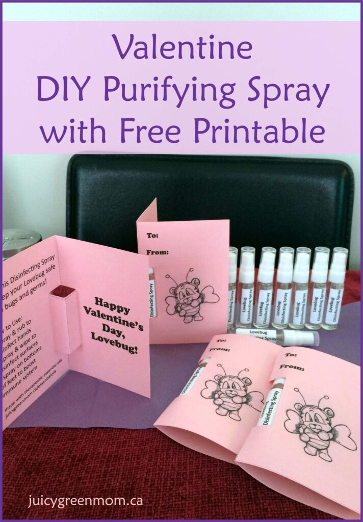 Valentine DIY Purifying Spray with Free Printable