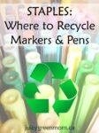 recycle writing utensils at Staples Canada