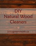 DIY natural wood cleaners