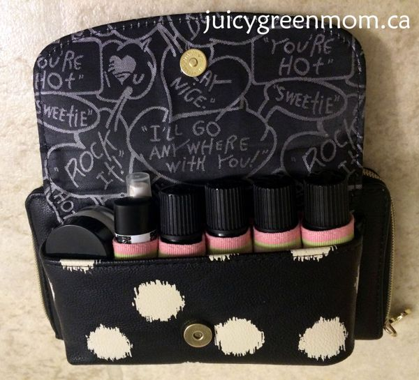 test sewn DIY essential oils organizer