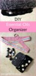 DIY essential oils organizer tutorial