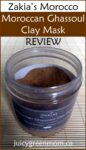 Zakia's Morocco Moroccan Ghassoul Clay Mask REVIEW