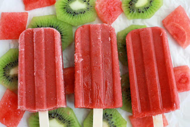 watermelon kiwi popsicle