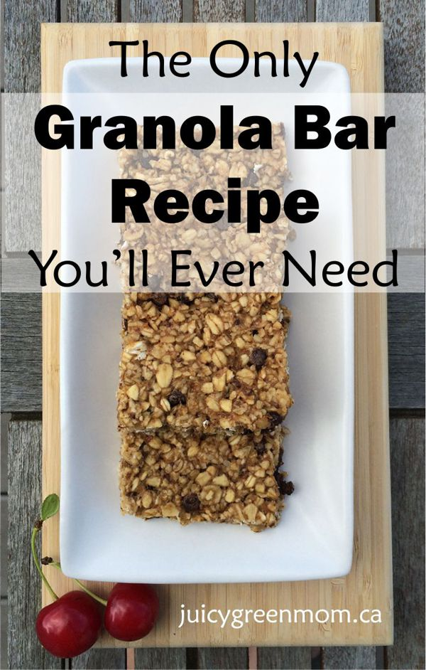 The Only Granola Bar Recipe You'll Ever Need