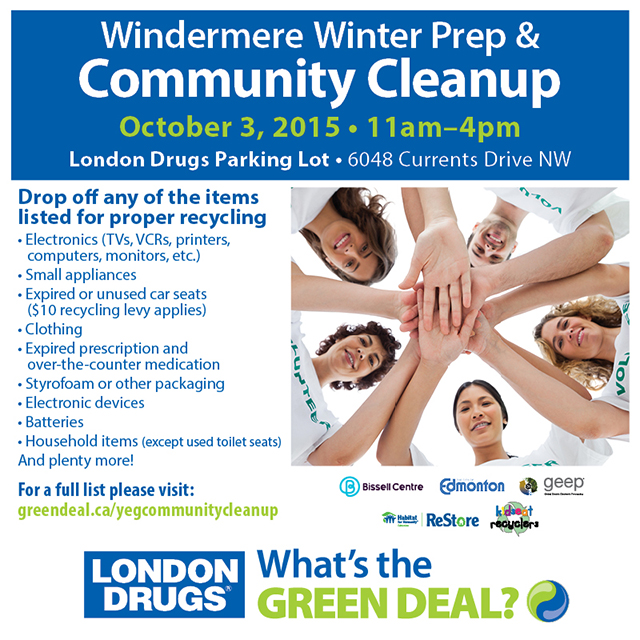 Windermere Winter Prep & Community Cleanup with London Drugs #LDgreen