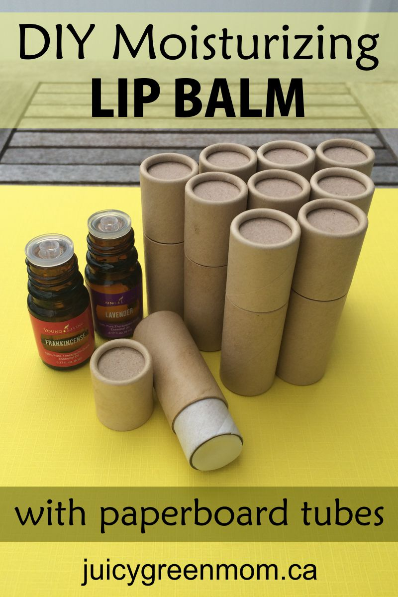 Diy Moisturizing Lip Balm With Paperboard Tubes