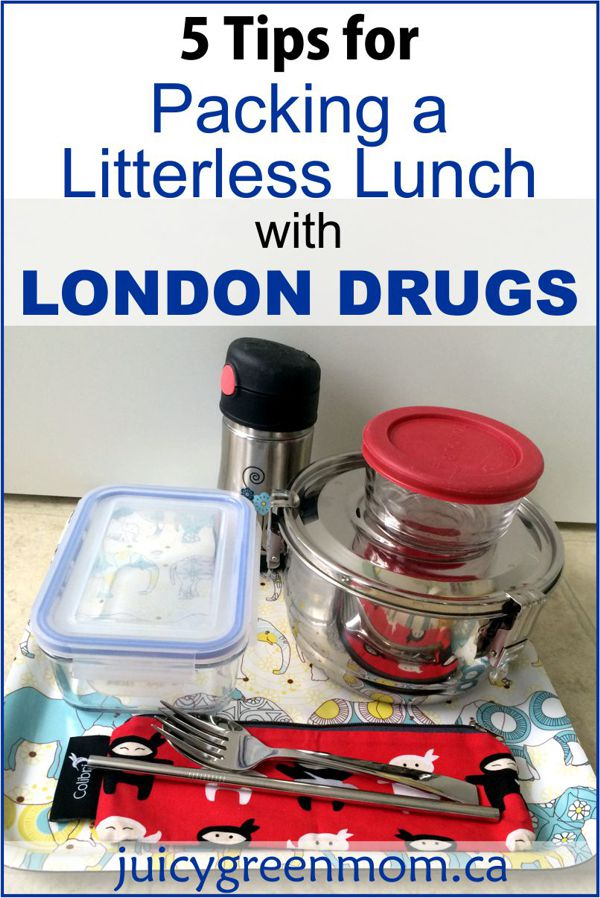 5 Tips for Packing a Litterless Lunch with London Drugs