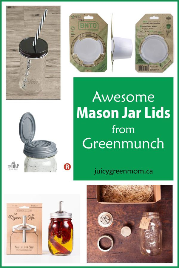 Awesome Mason Jar Lids from Greenmunch
