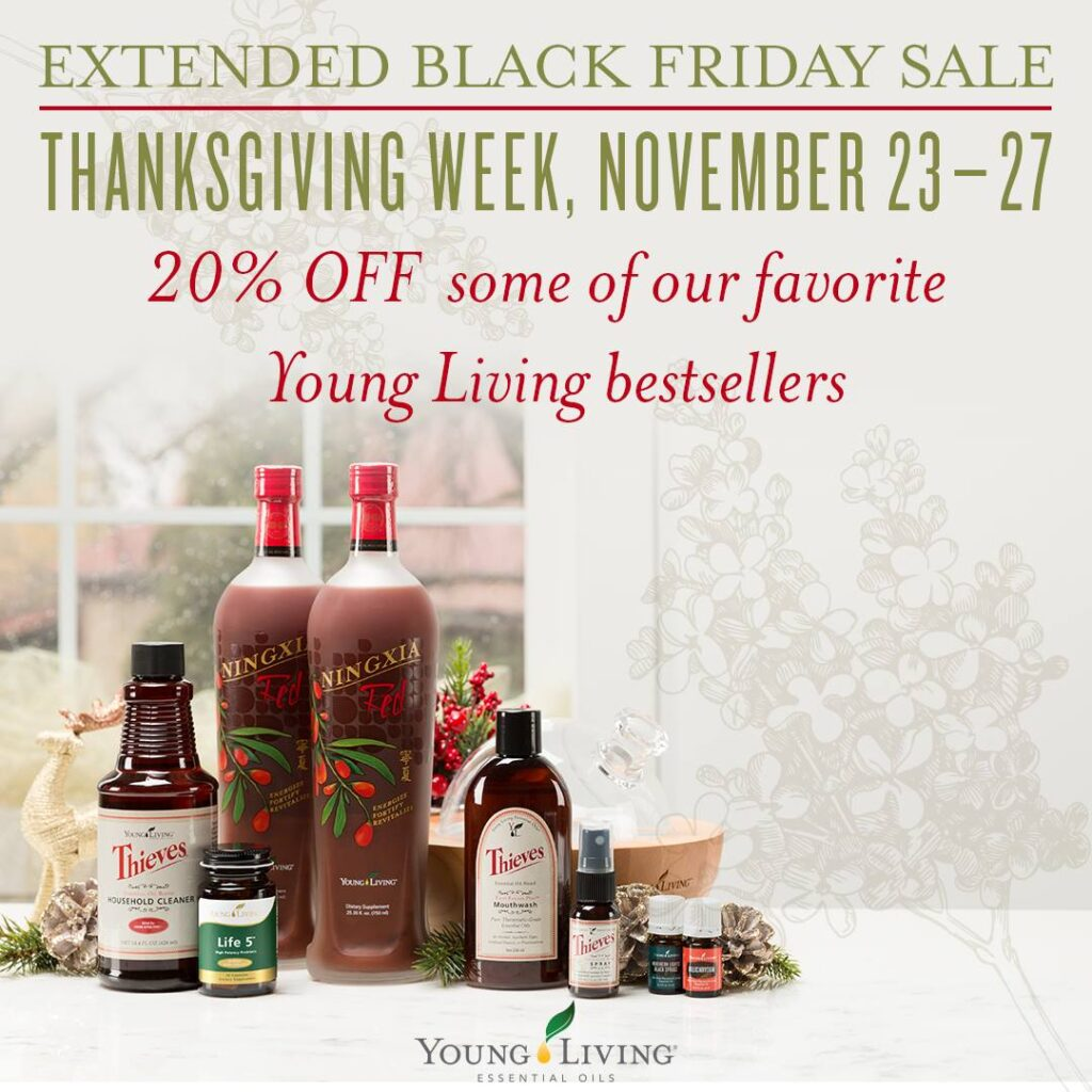 Black Friday Young Living USA sales
