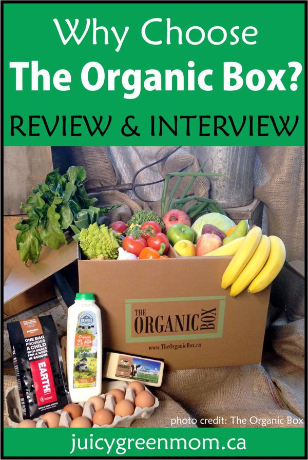 why choose the organic box juicygreenmom