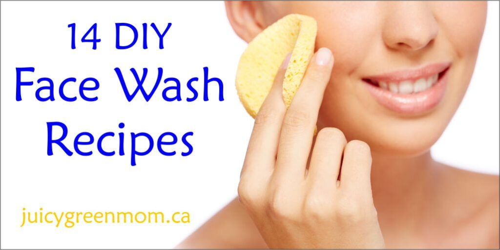 DIY face wash recipes juicygreenmom landscape