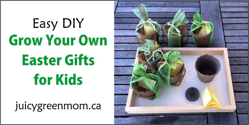 easy DIY Grow Your Own Easter Gifts for Kids juicygreenmom landscape