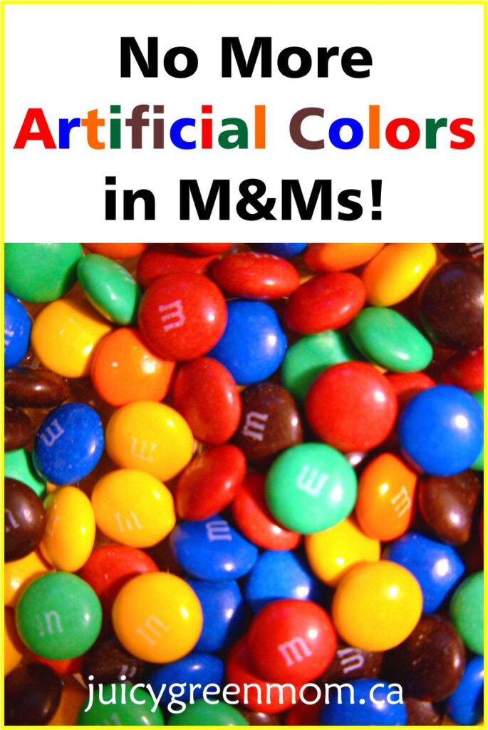 No More Artificial Colors in M&Ms!