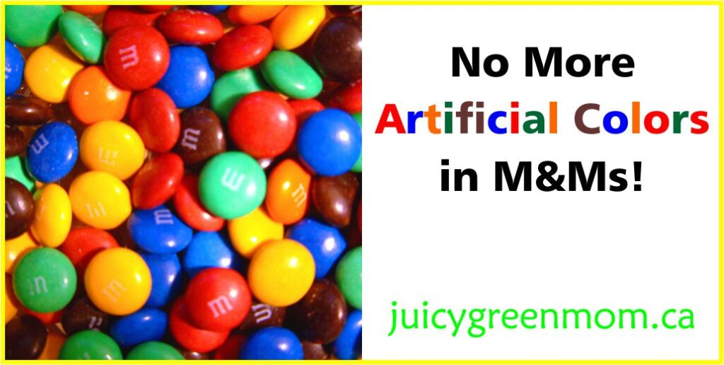 no more artificial colors in mms juicygreenmom landscape