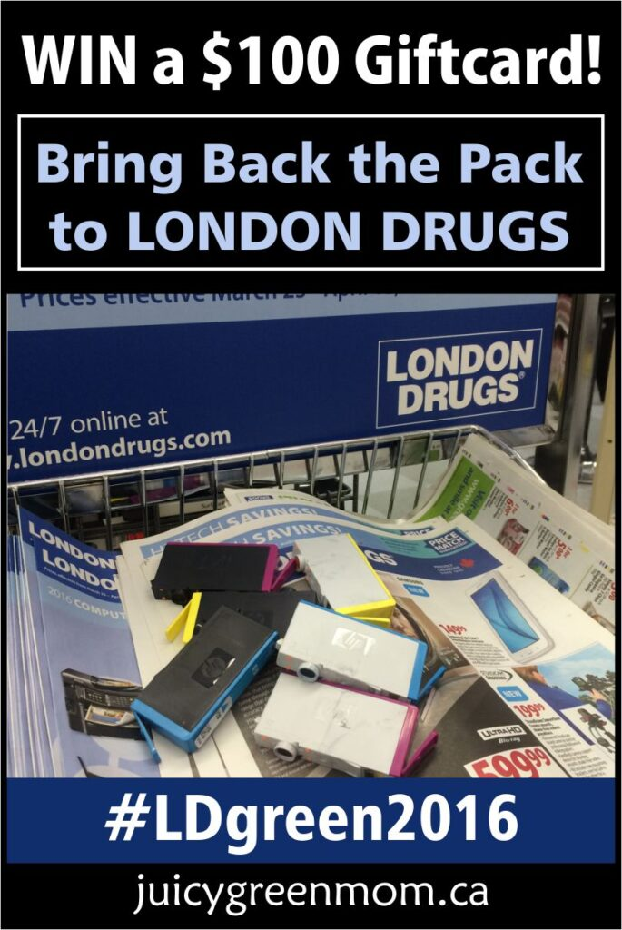Bring Back the Pack to London Drugs and WIN a $100 Giftcard! #LDgreen2016