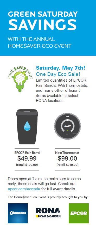 5 Reasons to Check Out the HomeSaver Eco Event #YEG #FiveonFriday