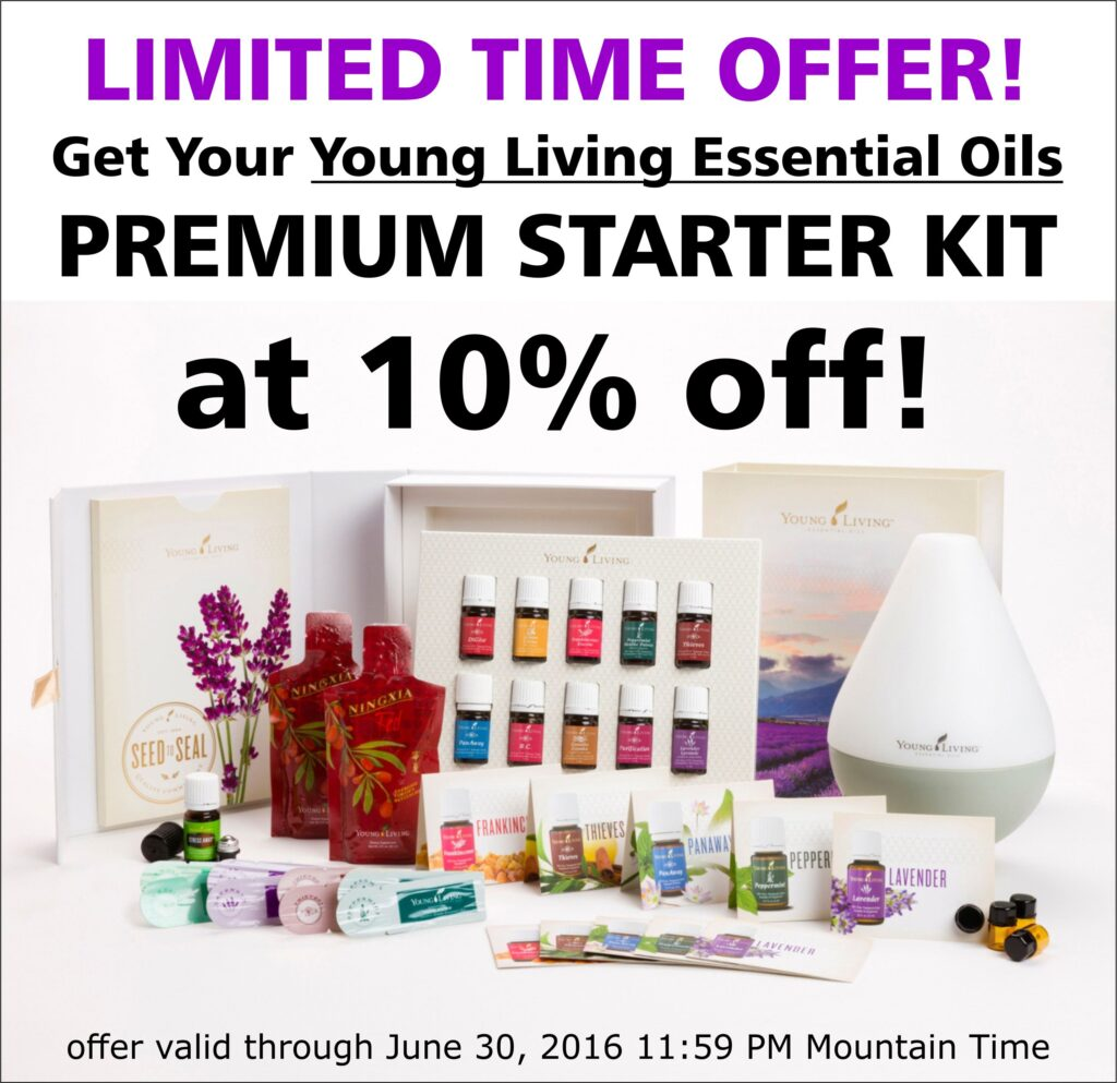 Get Your Young Living Essential Oils Premium Starter Kit at 10% OFF!