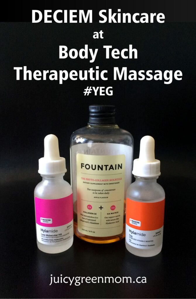 DECIEM Skincare at Body Tech Therapeutic Massage #YEG