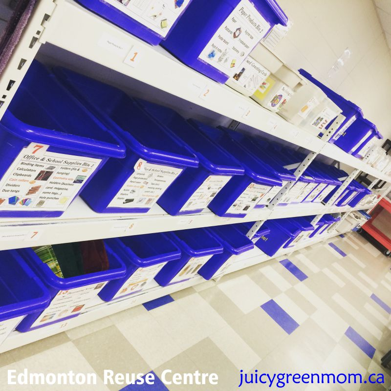 edmonton reuse centre sorting room juicygreenmom
