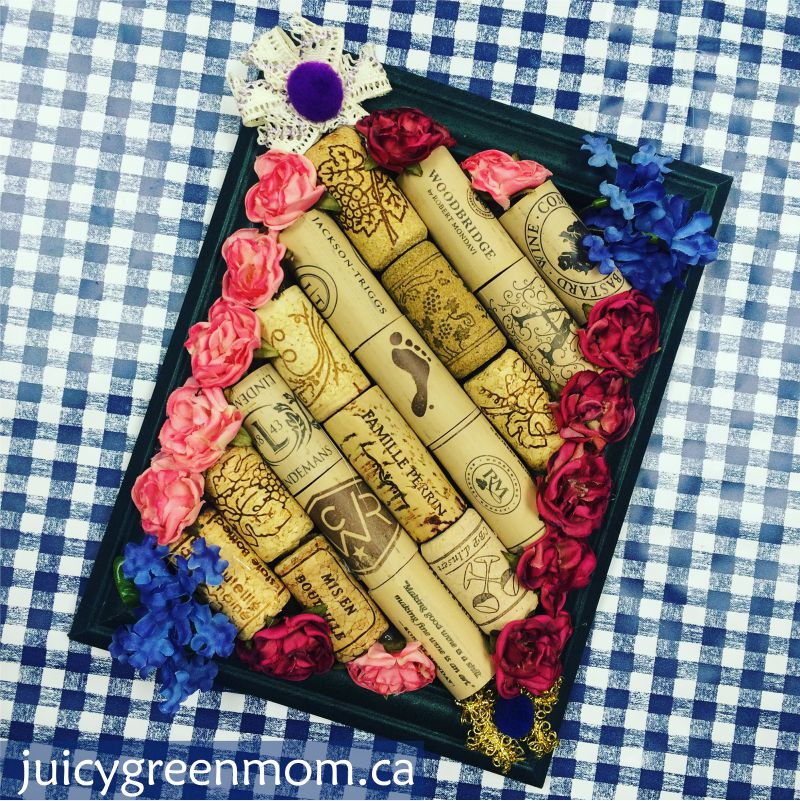 edmonton reuse centre upcycled cork board juicygreenmom