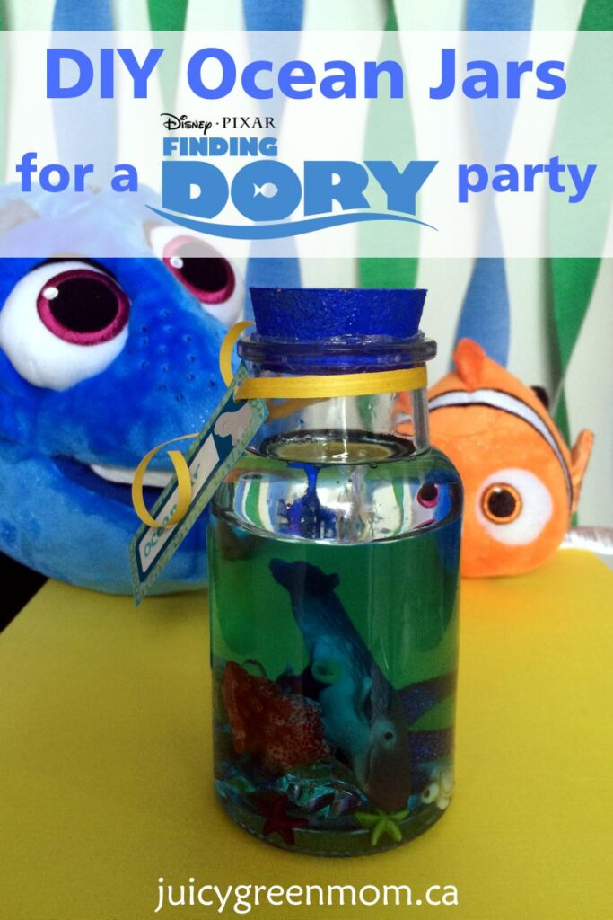DIY Ocean Jars for a Finding Dory Party