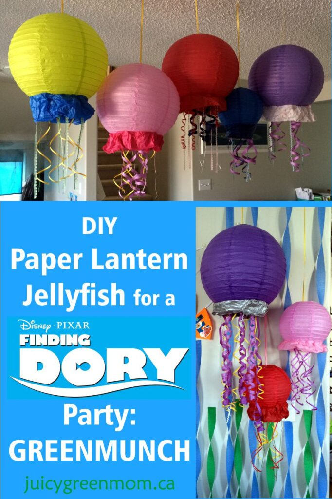 DIY Paper Lantern Jellyfish for a Finding Dory party: GREENMUNCH