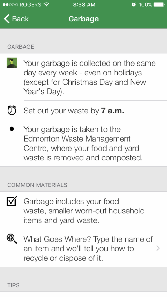 garbage wastewise app juicygreenmom