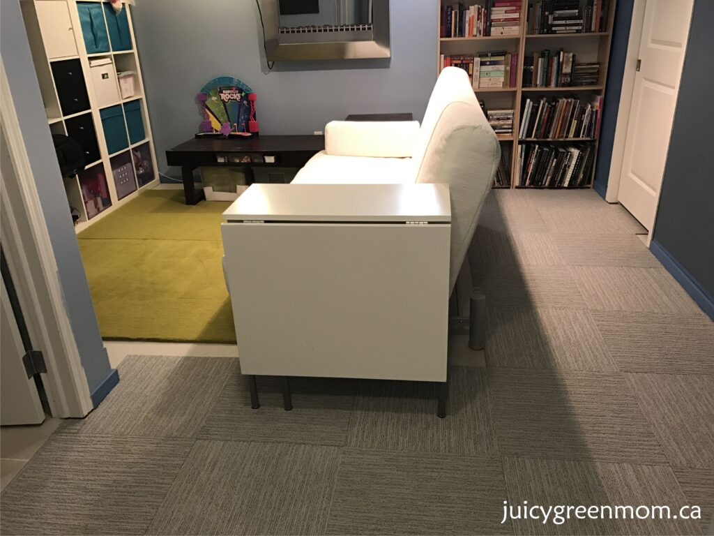 FLOR carpet tiles basement family room juicygreenmom