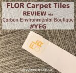 FLOR carpet tiles review via carbon environmental boutique YEG juicygreenmom