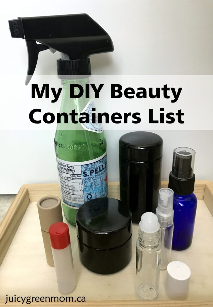 My DIY Beauty Containers List