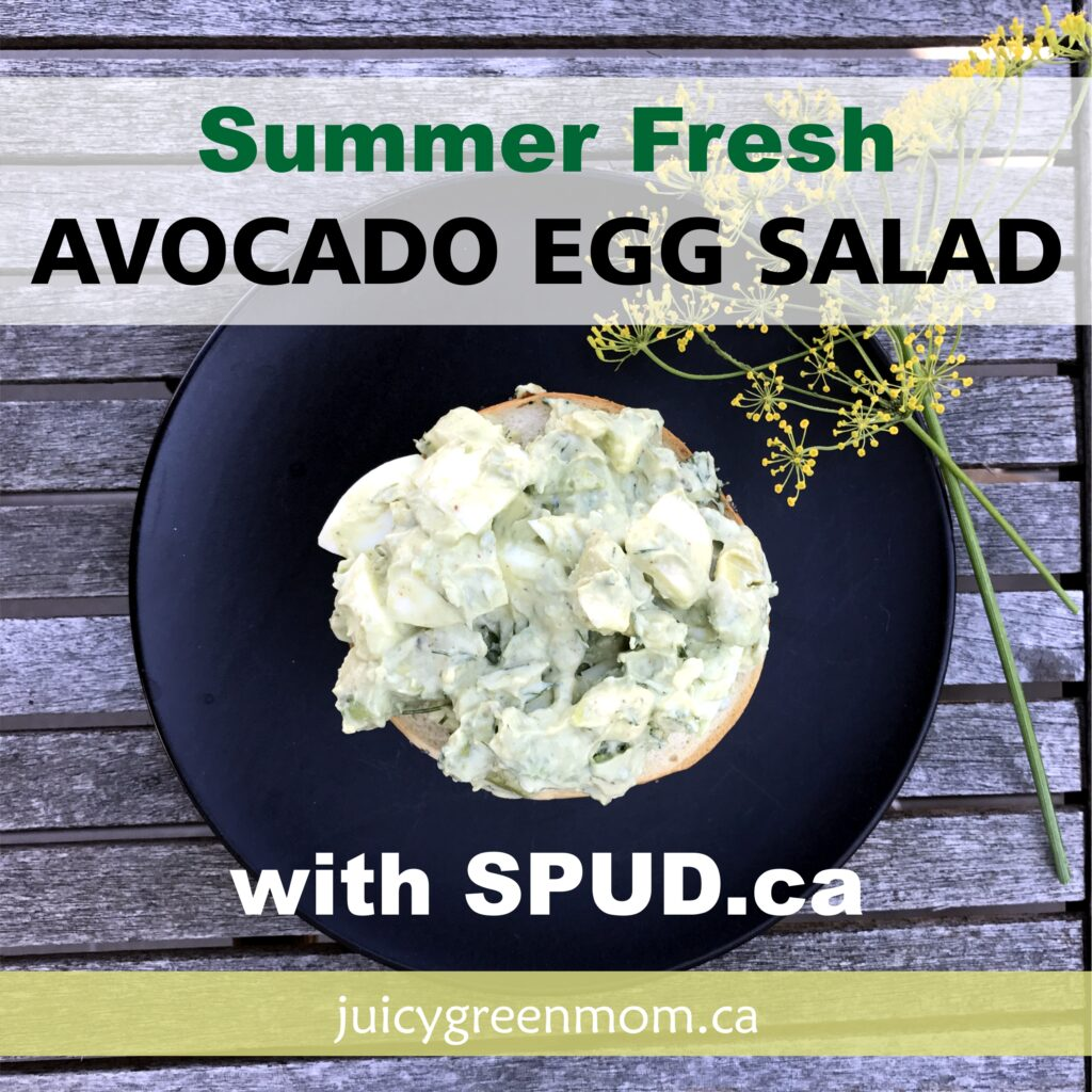 Summer Fresh Avocado Egg Salad with SPUD.ca