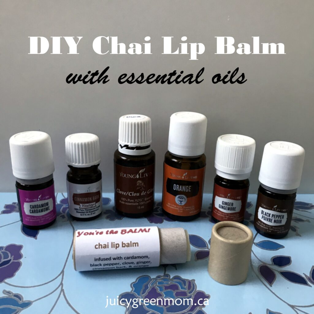 DIY Chai Lip Balm with Essential Oils