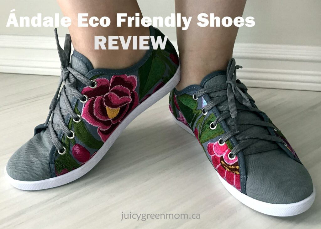 andale eco friendly shoes review on feet juicygreenmom