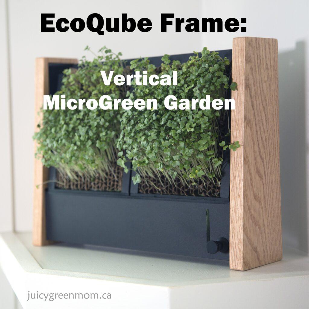 EcoQube Frame: Vertical MicroGreen Garden
