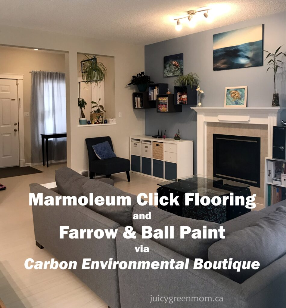 Marmoleum Click Flooring and Farrow & Ball Paint via Carbon Environmental Boutique