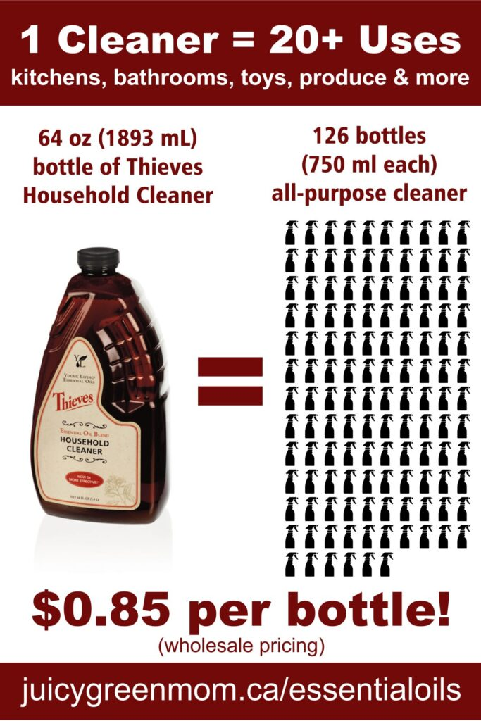 thieves cleaner bottle equivalent juicygreenmom