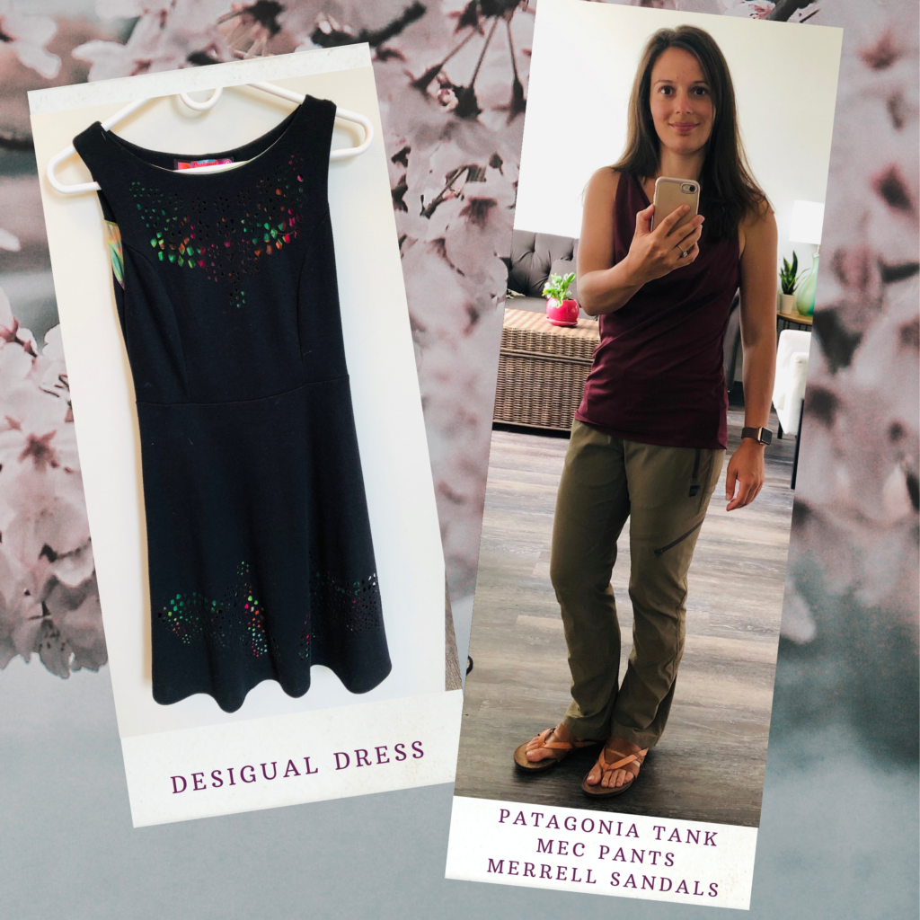 how to shop second hand like a boss desigual dress and angele outfit